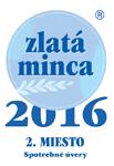 Zlatá minca 2016 - Spotrebné úvery - 2. miesto