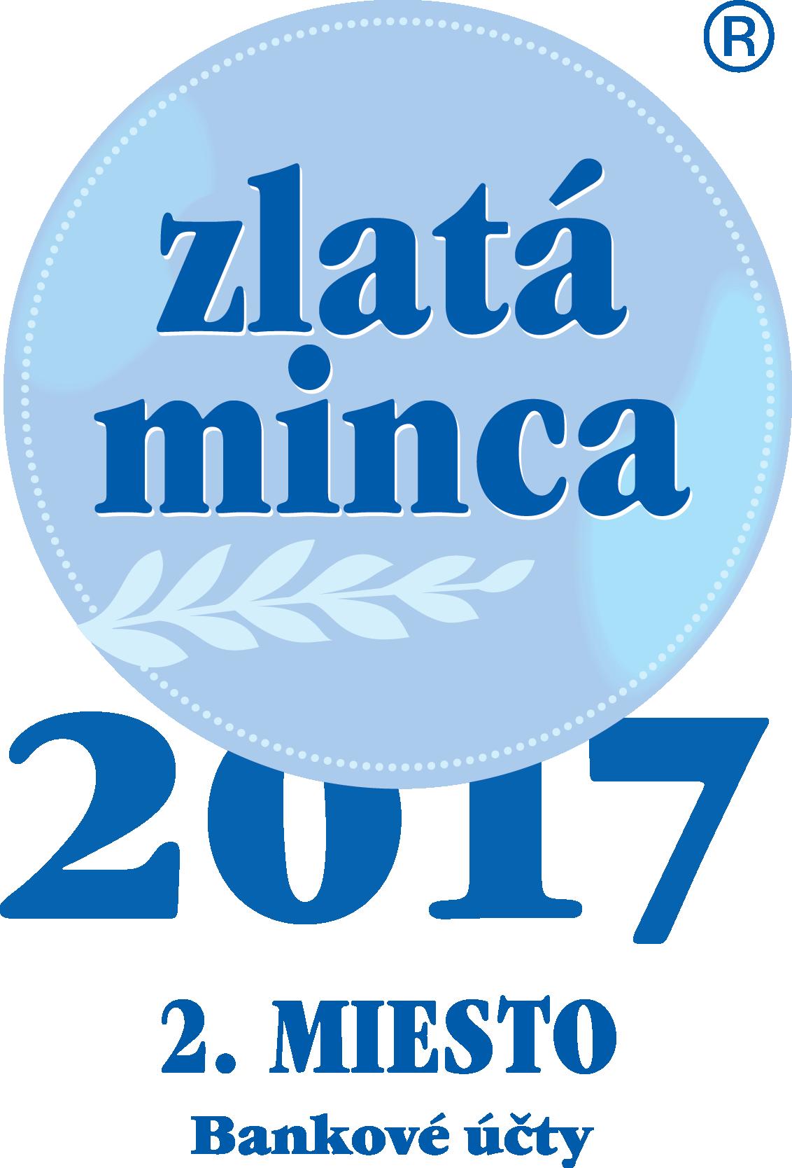 Zlatá minca 2017 - Bankové účty - 2. miesto