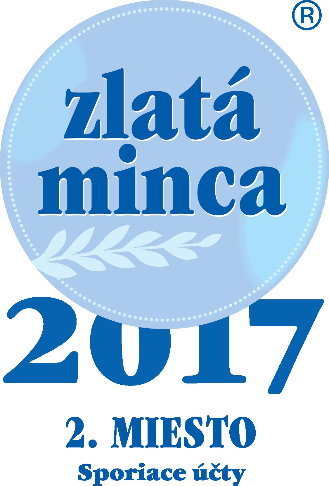 Zlatá minca 2017 - Sporiace účty - 2. miesto