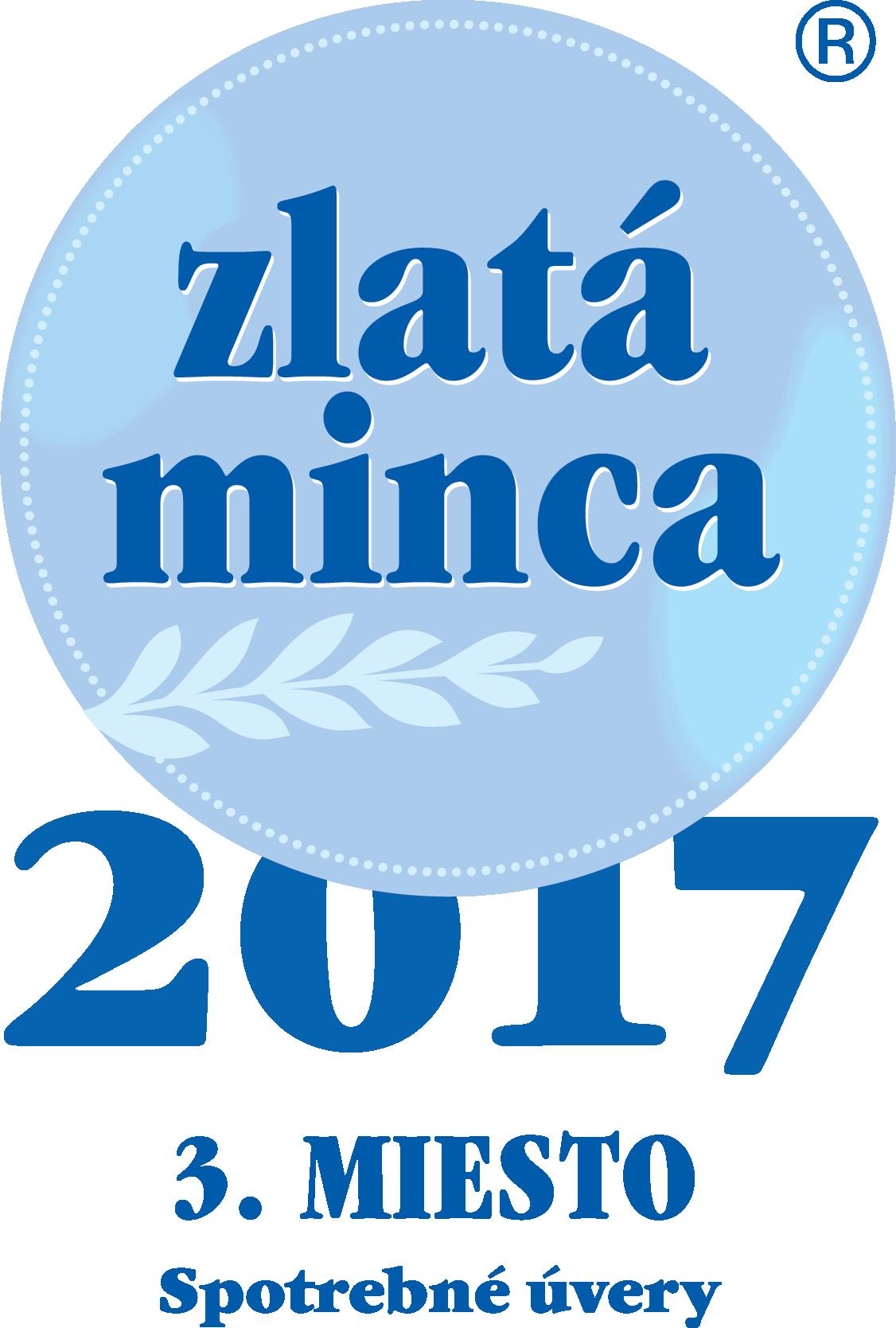 Zlatá minca 2017 - Spotrebne úvery - 3. miesto